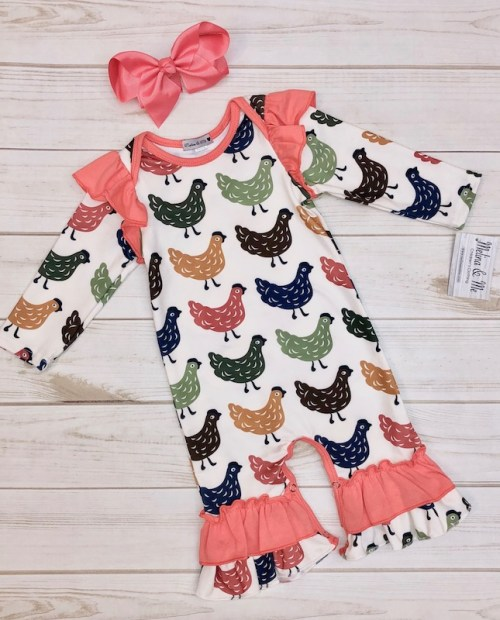 Melina & Me - Long-Sleeve Chicken Romper
