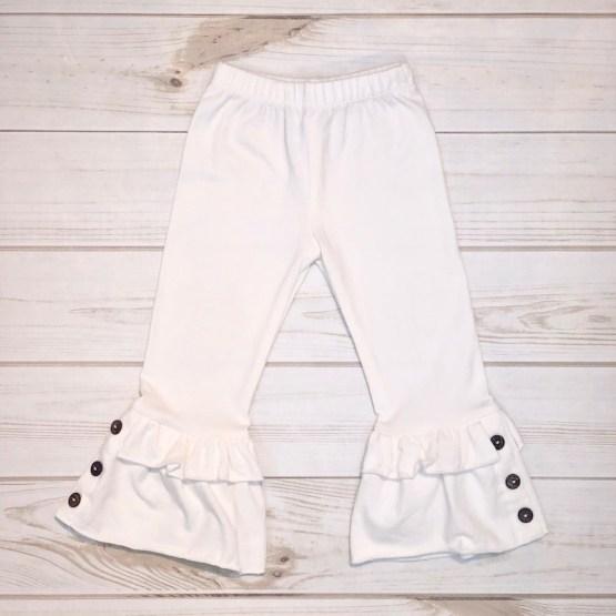 Melina & Me - Bellbottom Ruffle Pants (Cream)