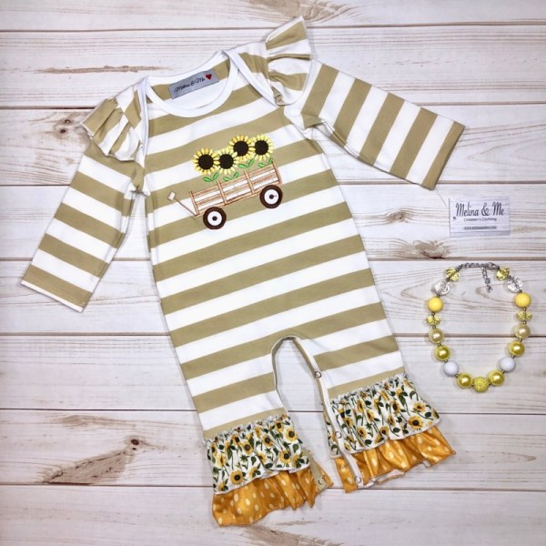Sunflower Field Romper (Long Sleeve)