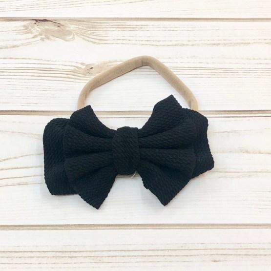 Melina & Me - Bow w: Headband (Black)