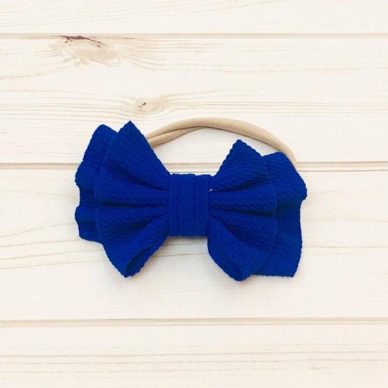 Melina & Me - Bow w: Headband (Blue)