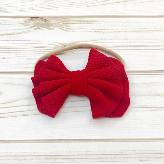 Melina & Me - Bow w: Headband (Red)