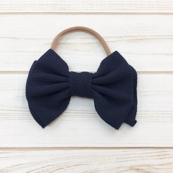 Melina & Me - Bow w: Headband (Navy)