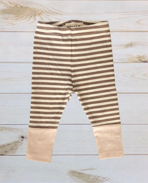 Melina & Me - Striped Sweater Pants (Beige:Taupe)