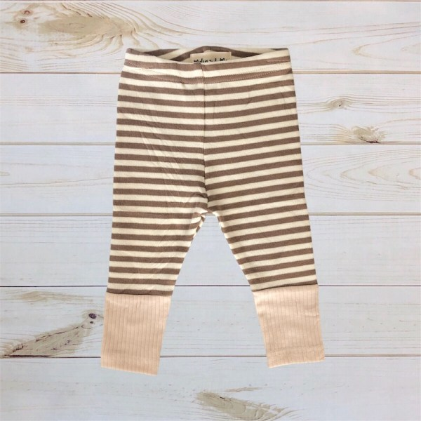 Striped Sweater Pants (Beige/Taupe)
