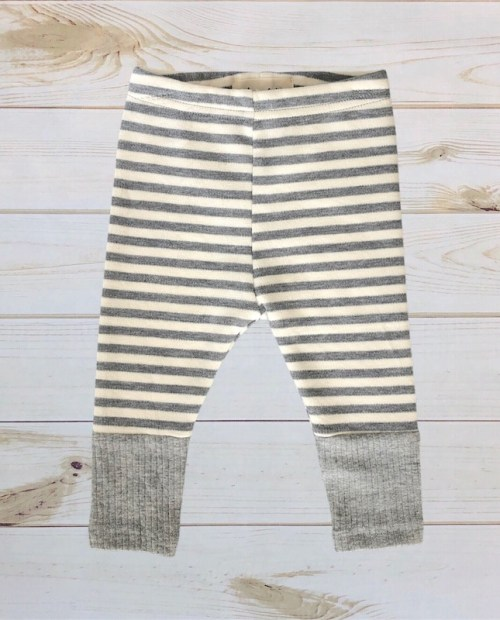 Melina & Me - Striped Sweater Pants (Gray)