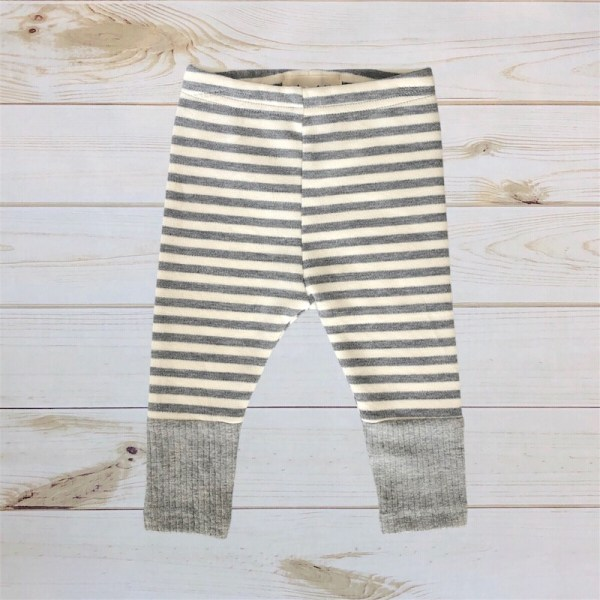 Striped Sweater Pants (Gray)