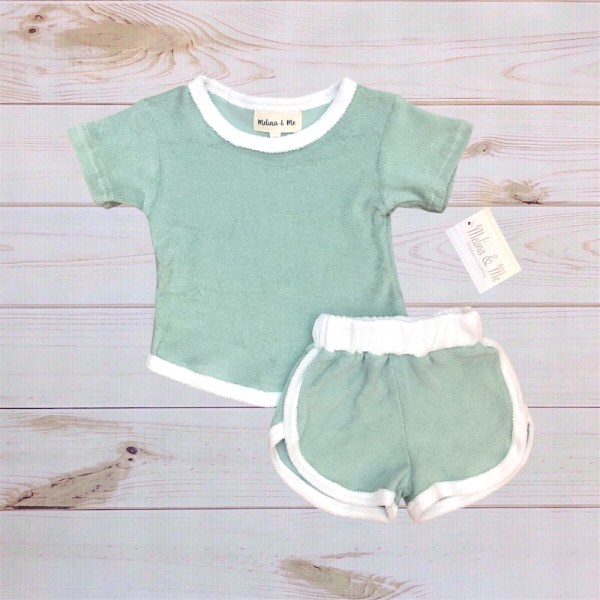 Terry Cloth Short Outfit