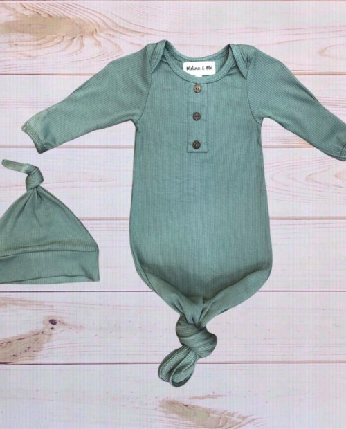 Melina & Me - Finn Ribbed Baby Gown