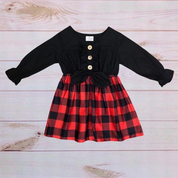 Black/Buffalo Plaid Dress