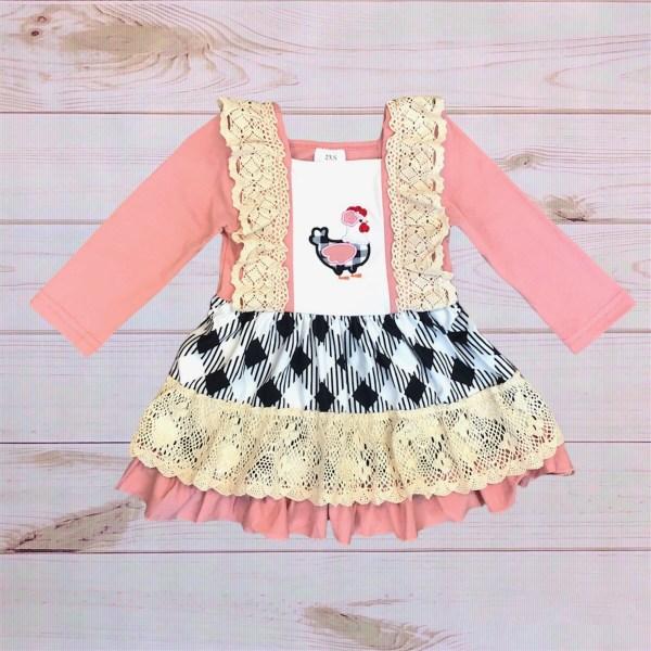 Chicken Plaid Dress