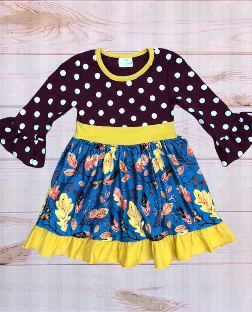 Polka Dot Marigold Dress