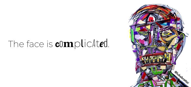Luke Barosky Kunst - das Gesicht ist kompliziert