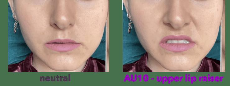 AU10 - elevador de labio superior - levator labii superioris - caput infraorbitalis - expresiones de asco - - Melinda Ozel - Face the FACS