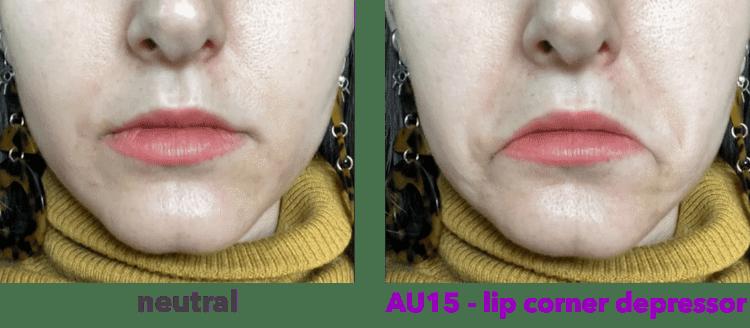 AU15 - lip corner depressor -depressor anguli oris