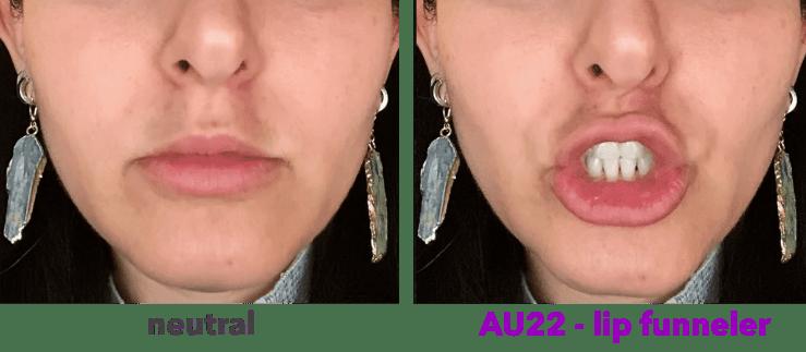 AU22 - lip funneler - FACS