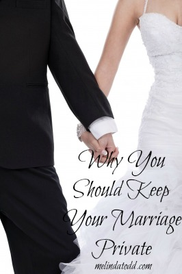 keep marriage private melinda todd