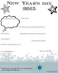 New Year's Day Journal Printable by Melinda Todd