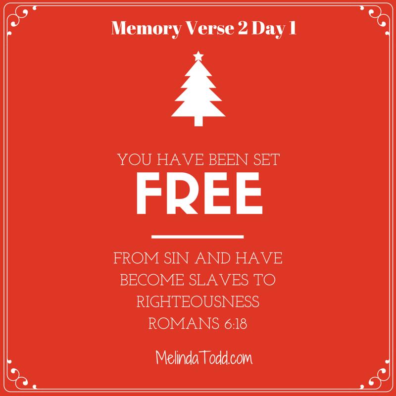 Memory verse 2 day 1 Romans 6:28