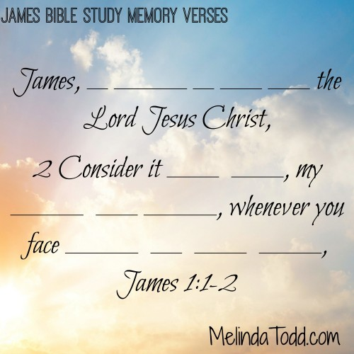 James memory verses 1&2