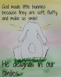 God delights in our smiles