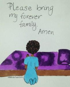 Orphan Praying for Forever Family by Melinda Todd