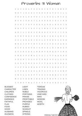 Proverbs 31 Woman Word Search Puzzle by Melinda Todd