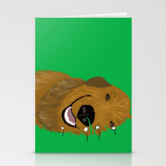 Golden Doodle or Retriever Greeting Card by Melinda Todd