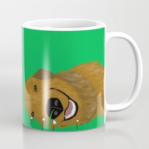 Golden Doodle or Retriever Coffee Mug by Melinda Todd