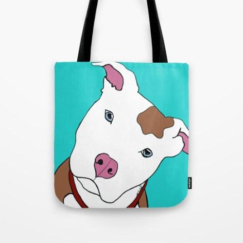 Pit Bull Tote Bag by Melinda Todd