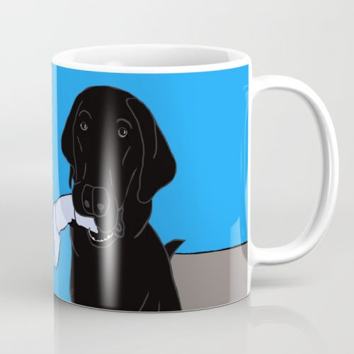 Black Lab With a Bone Coffee Mug