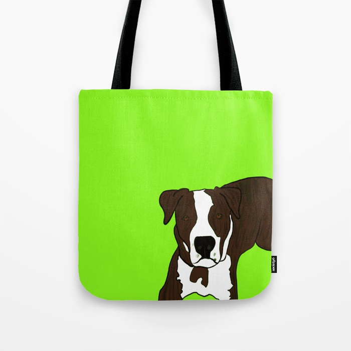 Chico The Brindled Pit Bull Tote Bag