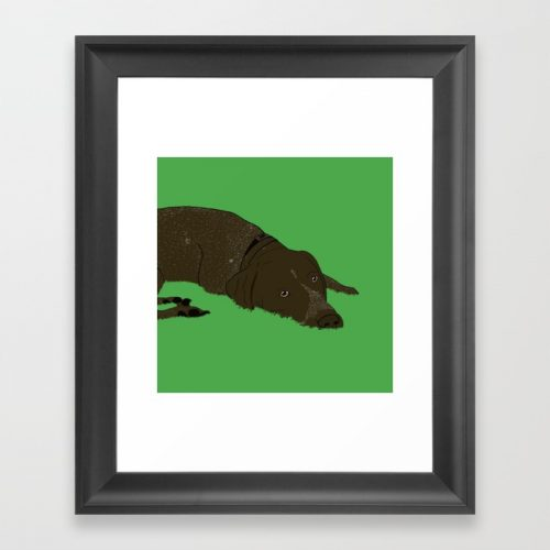Gunner the German Shorthaired Pointer framed print