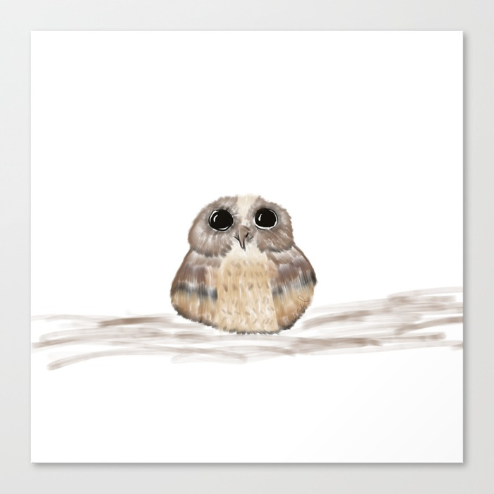 Sweet Owl Canvas Print