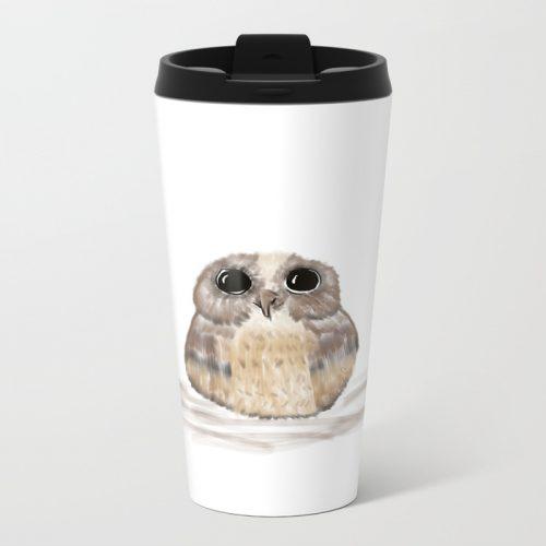 Sweet Owl Metal Travel Mug