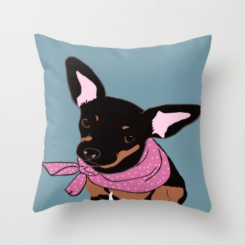 Sweet Chihuahua Throw Pillow