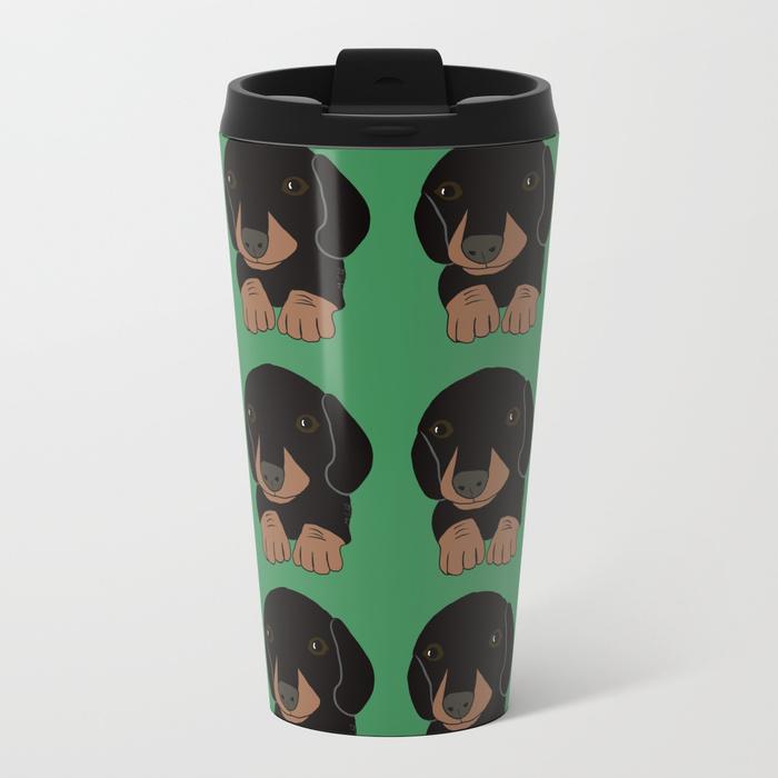 Dachshund Puppies Galore Travel Mug