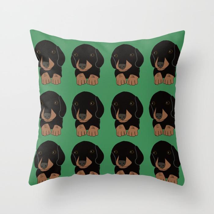 Dachshund Puppies Throw PillowDachshund Puppies Throw Pillow
