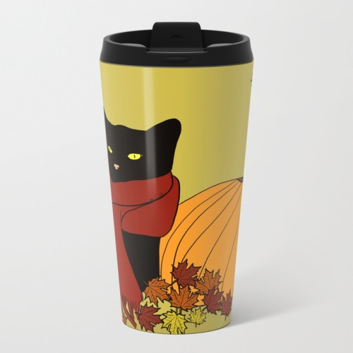 Cascade The Black Cat Welcomes Fall Travel Mug