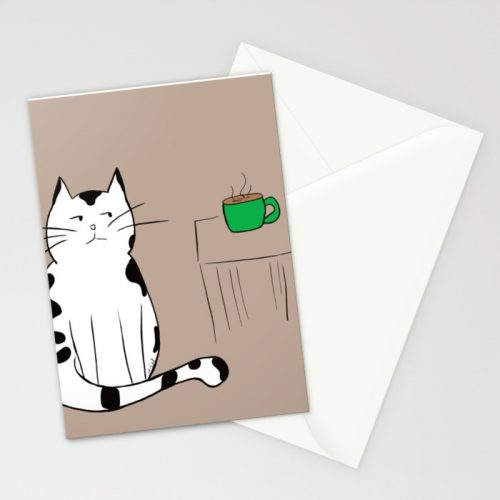 Java The Coffee Cat Greeting Cards