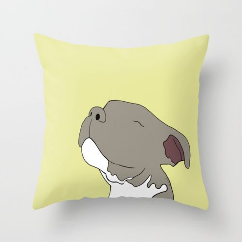 Sunny The Pit Bull Puppy Throw Pillow