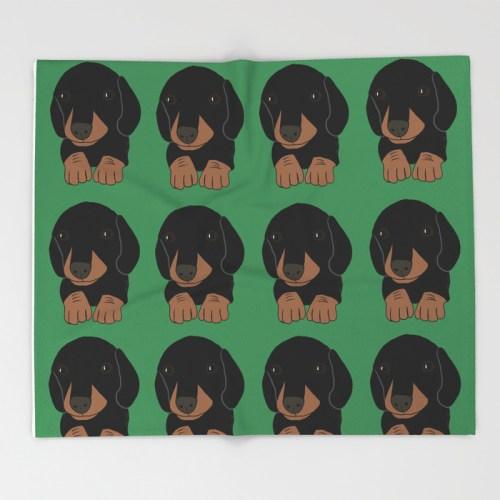 Dachshund Puppies Galore Throw Blanket