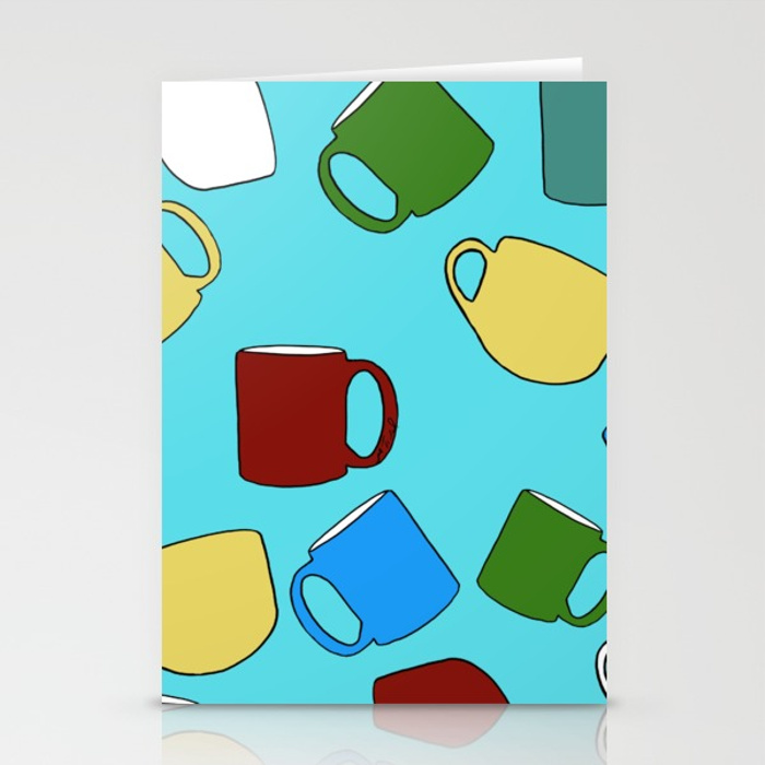 Coffee Mugs Greeting Cards