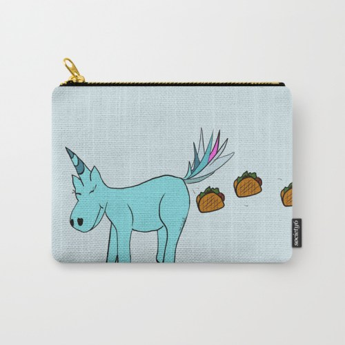 Unicorn Pooping Tacos Carry All Pouch