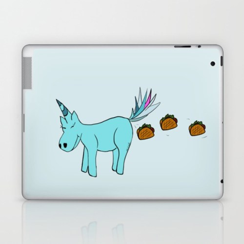 Unicorn Pooping Tacos Laptop Skin