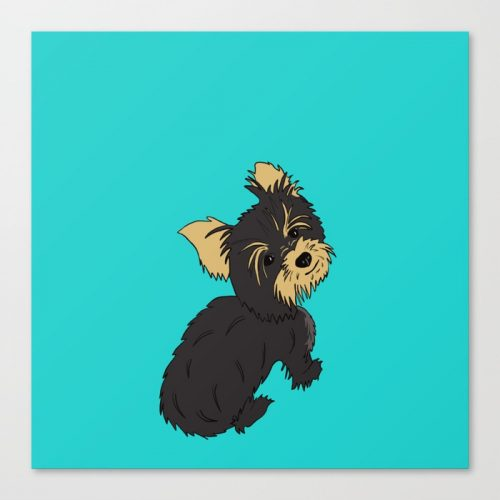 A Bossy Yorkie Canvas Print by Melinda Todd