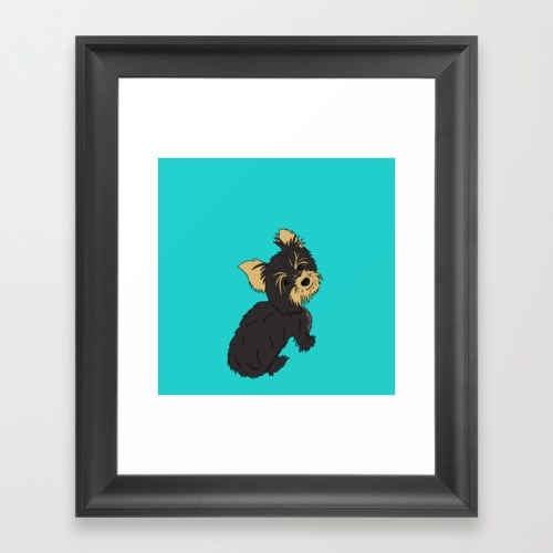 A Bossy Yorkie Framed Print by Melinda Todd