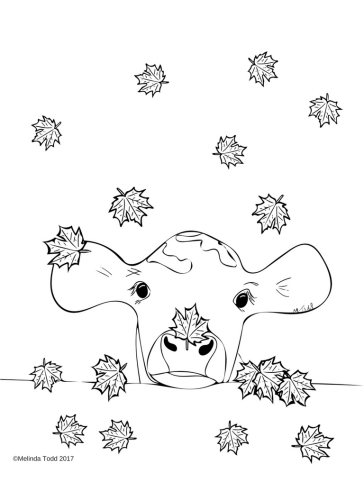 Bessie The Calf Coloring Page by Melinda Todd
