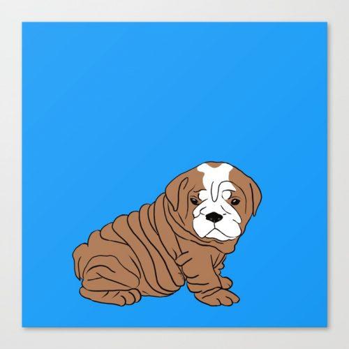 Bulldog Puppy Canvas Print by Melinda Todd