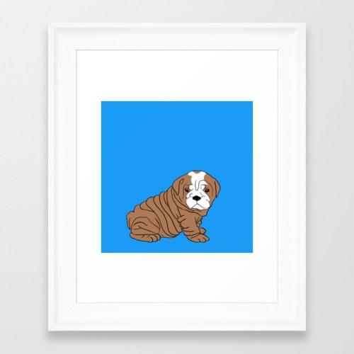 Bulldog Puppy Framed Print by Melinda Todd